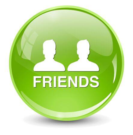 face book: amigos icono Vectores