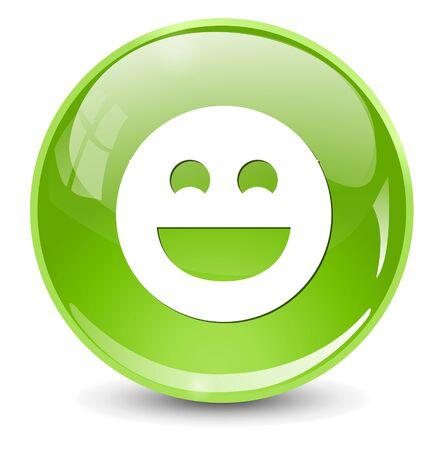 carita feliz caricatura: icono de cara sonriente