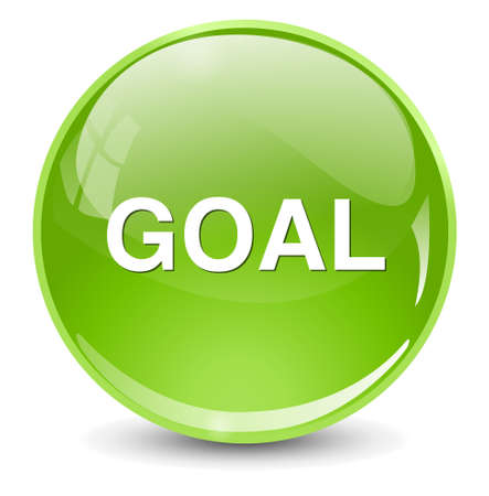 goal setting: goal icon Illustration