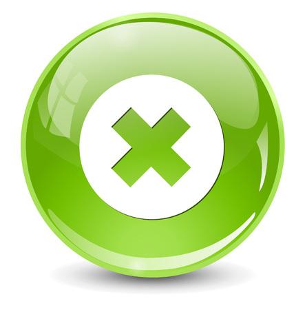 delete: cancel icon, delete button