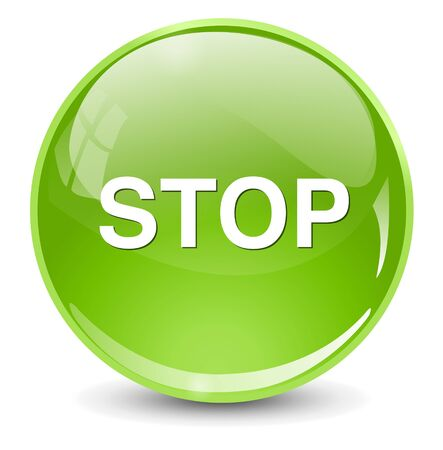 at button: stop button Illustration