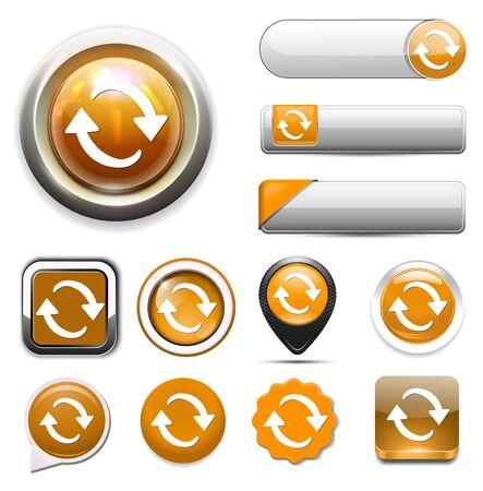 refresh: refresh icon Illustration