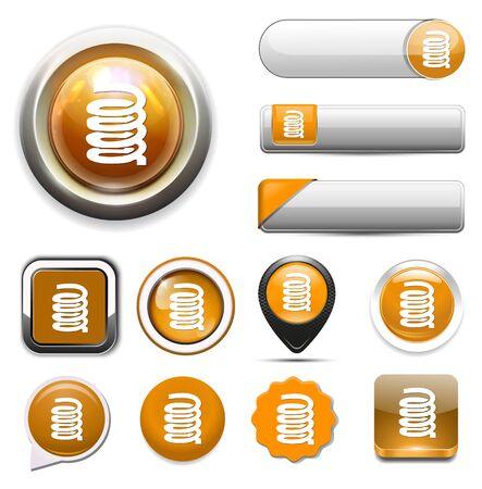 zipper: zipper button Illustration