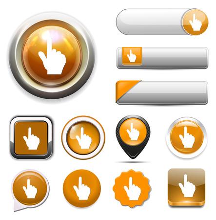 icona della mano del cursore