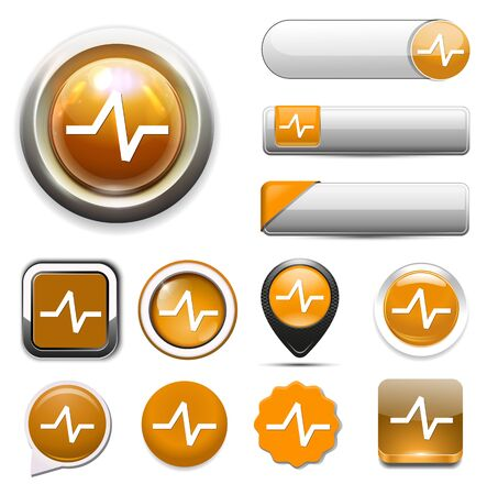 rate: heart rate button Illustration