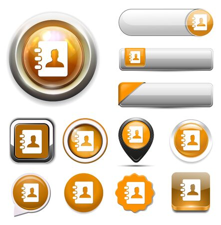 email lists: address book icon Illustration