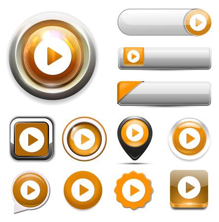 Jouer bouton icône Banque d'images - 54170920