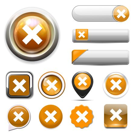 cancel: cancel  icon, delete button Illustration