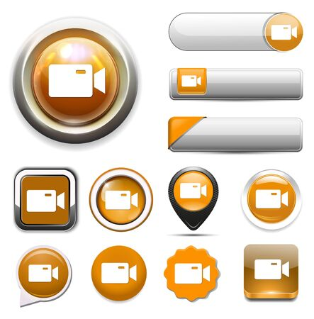 Video camera icon Vektorové ilustrace