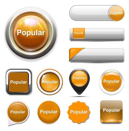 popular: popular  word button