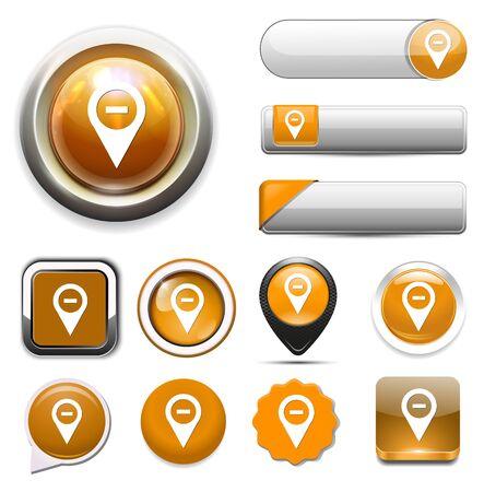 map pin: map pin button Illustration