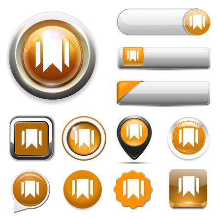 bookmark: bookmark icon. Illustration