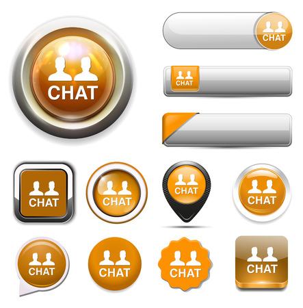 chat: Chat icon Illustration