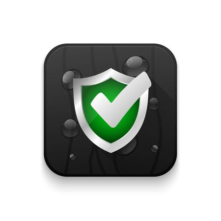 ssl: security verification passed With long shadow over app button Illustration