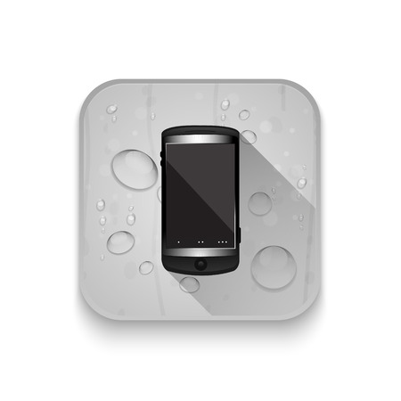 touchphone: Smartphone, mobile phone With long shadow over app button
