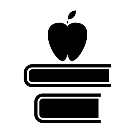 apple and books icon Ilustracja