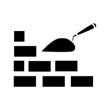 bricks construction icon Illustration