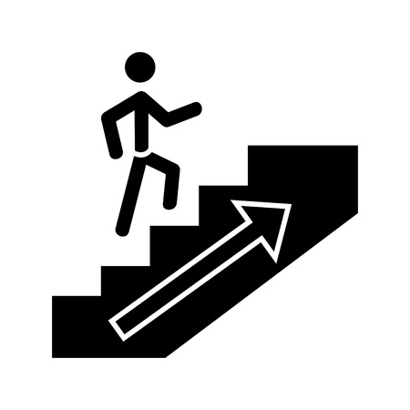going up man icon