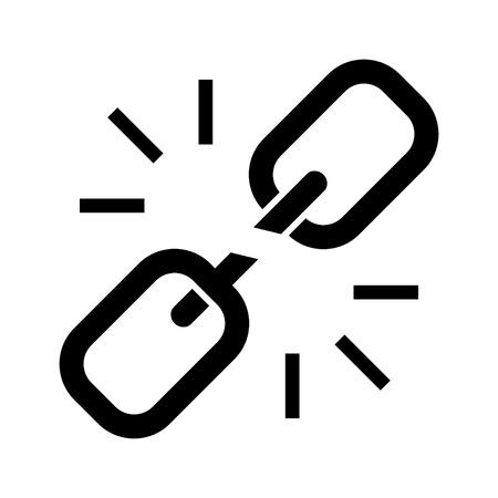 Icône liée Banque d'images - 80759815
