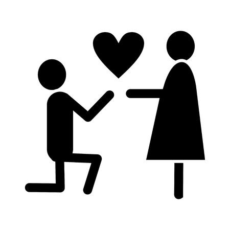 mariage proposal icon