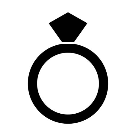 diamant ring icon Reklamní fotografie - 80759972