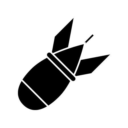 military rocket icon Illustration