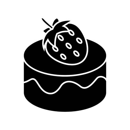 cupcakes isolated: strawberry dessert icon