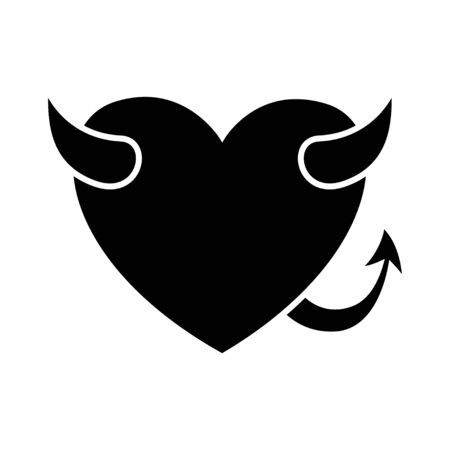 love heart devil icon