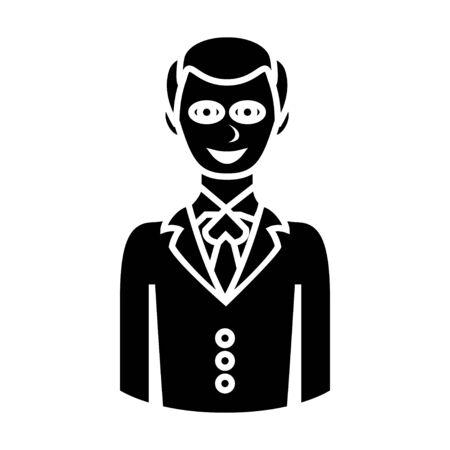 sad businessman: happy man character icon