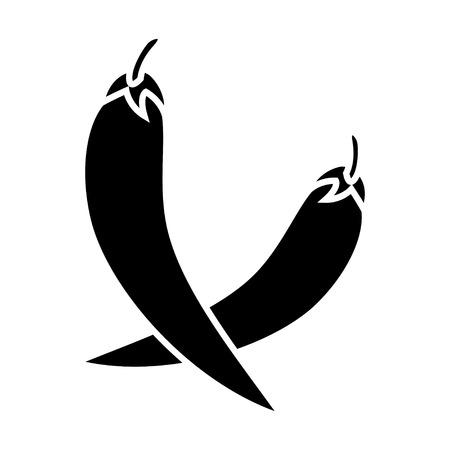 chili pepper icon Illustration