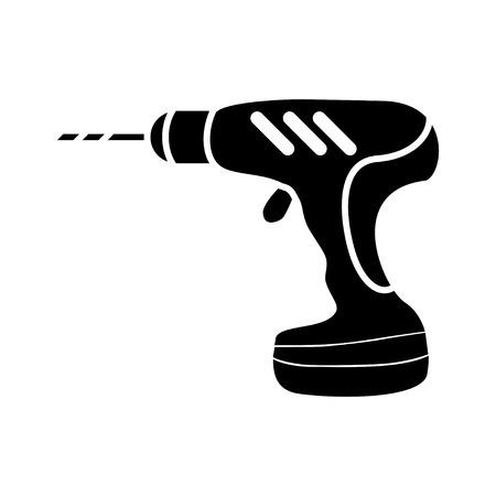Icône de perceuse électrique Banque d'images - 80760421
