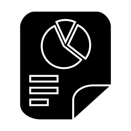 report icon: chart sheet icon Illustration