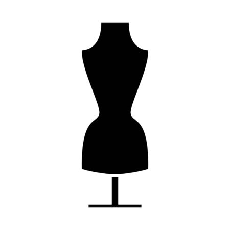 manequin: women clothing manequin icon Illustration