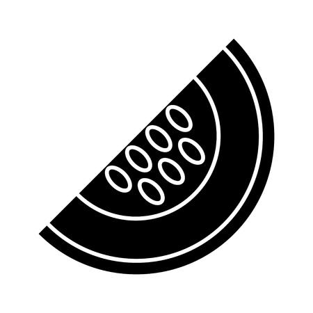 Gelbes Melonensymbol Standard-Bild - 80760577