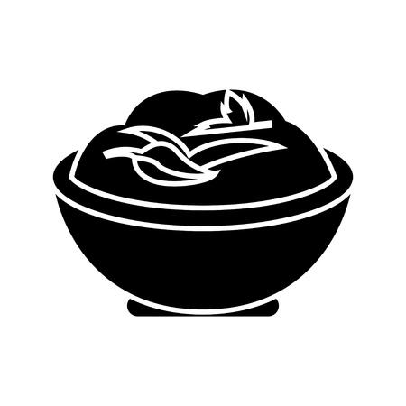 mashed potatoes icon Illustration