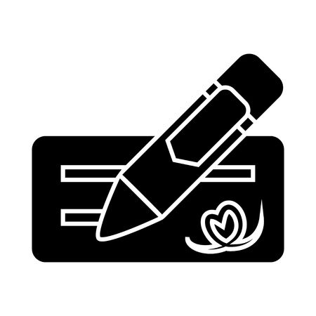 signing money check icon