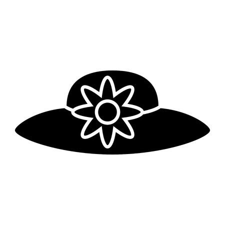 woman beach hat icon