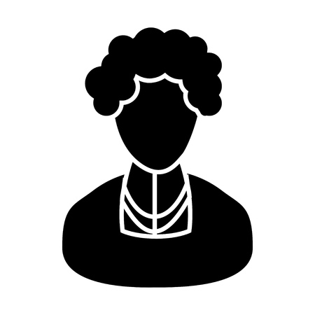 ageing: elder woman character icon Illustration