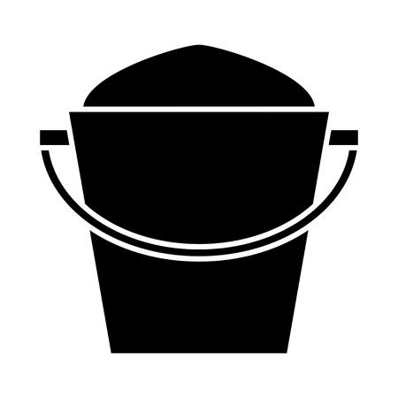 pail: sand bucket icon Illustration