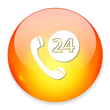 24: 24h phone icon