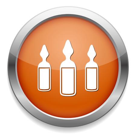 ampoule: ampoules icon Illustration