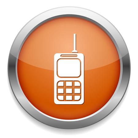 Army walkie talkie icon. 向量圖像