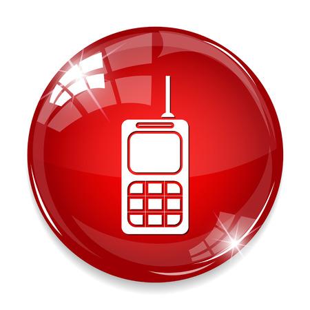 portable radio: Army walkie talkie icon. Illustration
