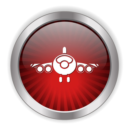 Airplane icon. Фото со стока - 80791953