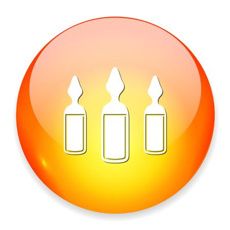 Ampoules icon. Ilustracja