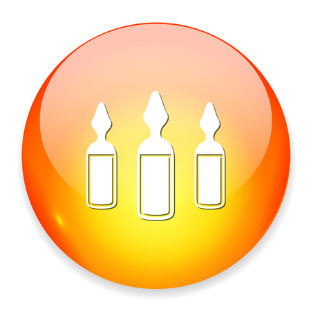 Ampoules icon. Illustration