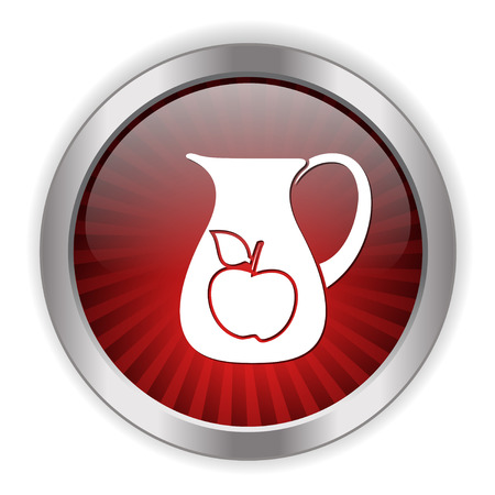 An apple juice pot icon button.