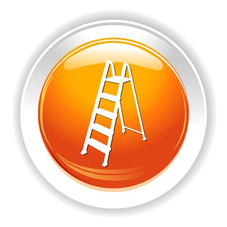 2 steps ladder icon