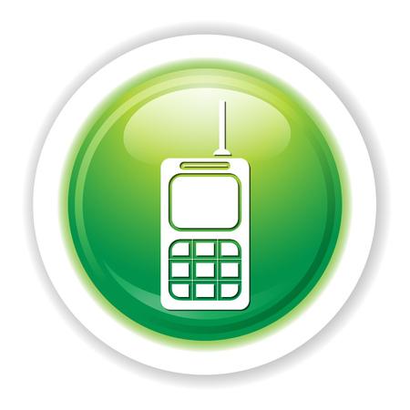 An army walkie talkie icon. 向量圖像