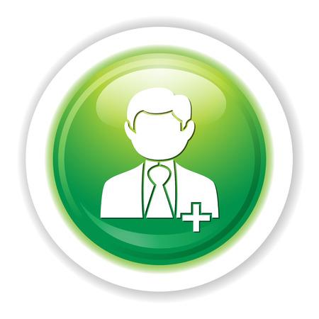 Add business man icon. Illustration